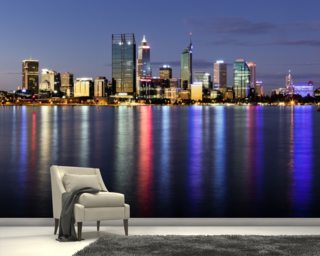 Perth by Night wall mural