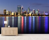 Perth by Night wall mural living room preview