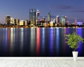 Perth by Night wall mural in-room view
