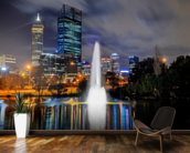 Perth City at Night wallpaper mural kitchen preview