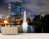Perth City at Night wallpaper mural living room preview