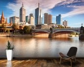 Melbourne Skyline wallpaper mural kitchen preview