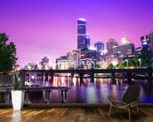 Melbourne at Night mural wallpaper kitchen preview