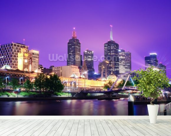 Melbourne, Australia wall mural room setting