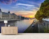 Seine Sunset wall mural living room preview