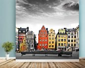 Stockholm Colourwash wall mural in-room view