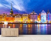 Stockholm Waterfront wallpaper mural living room preview
