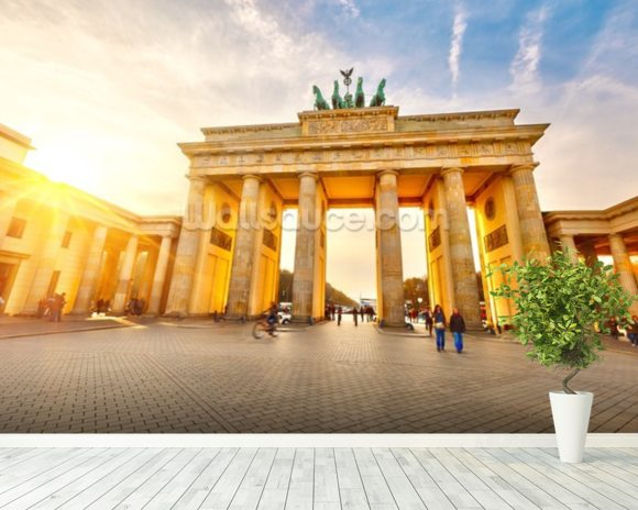 Brandenburg Gate wall mural room setting