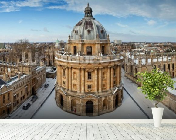 Oxford Skyline mural wallpaper room setting