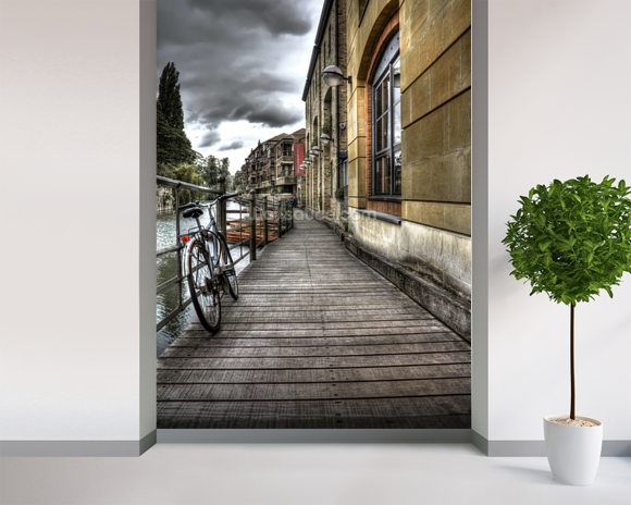 River Cam Walkway wall mural room setting