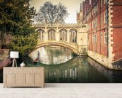 Bridge over River, Cambridge wallpaper mural living room preview