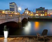 Dublin at Night wall mural kitchen preview