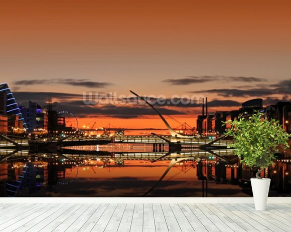 Liffey Sunrise wallpaper mural room setting
