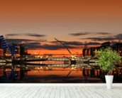 Liffey Sunrise wallpaper mural in-room view