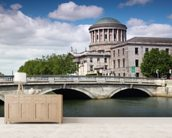 O'Donovan Rossa Bridge & Four Courts wall mural living room preview