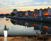 Dublin at Dusk wallpaper mural kitchen preview
