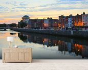 Dublin at Dusk wallpaper mural living room preview