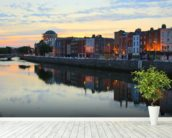 Dublin at Dusk wallpaper mural in-room view