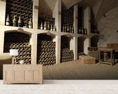 Castle Wine Cellar mural wallpaper living room preview