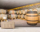 Barrels of Wine wall mural living room preview