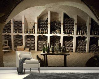 Wine Cellar Wall Murals Vineyard Wallpaper Wallsauce Usa
