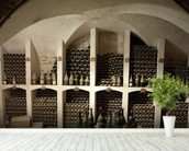 Grand Wine Cellar wall mural in-room view