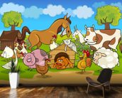 Farm Animals wall mural kitchen preview