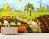 Harvest Time wall mural living room preview
