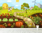 Harvest Time wall mural in-room view
