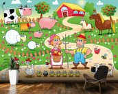 Country Farm mural wallpaper kitchen preview