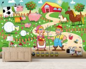 Country Farm mural wallpaper living room preview