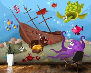 Sunken Ship Wall Mural Wallpaper Part 86