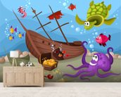 Sunken Ship wall mural living room preview