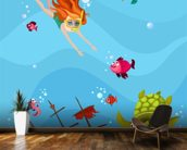 Seascape wallpaper mural kitchen preview