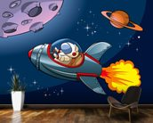 Kids Spaceship wall mural kitchen preview