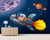 Kids Spaceship wall mural living room preview