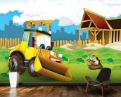 Cartoon Digger mural wallpaper kitchen preview