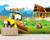 Cartoon Digger mural wallpaper living room preview