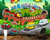 Cartoon Road wall mural kitchen preview