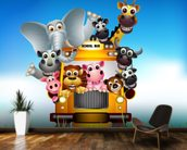 Cartoon Animal Bus mural wallpaper kitchen preview