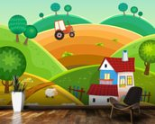 Farm and Tractor wall mural kitchen preview