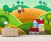 Farm and Tractor wall mural living room preview