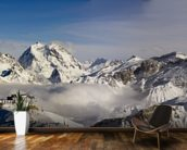 Courchevel mural wallpaper kitchen preview