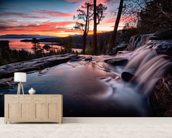 Lake Tahoe Sunrise wall mural living room preview