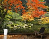 Autumn Woodland Colours wallpaper mural kitchen preview