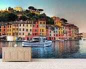 Portofino Sunset, Italy wall mural living room preview