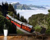 Old Train Mountain Pass wall mural kitchen preview