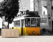 Yellow Tram in Lisbon wallpaper mural living room preview