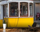 Tram in Lisbon, Portugal mural wallpaper kitchen preview