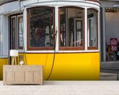 Tram in Lisbon, Portugal mural wallpaper living room preview